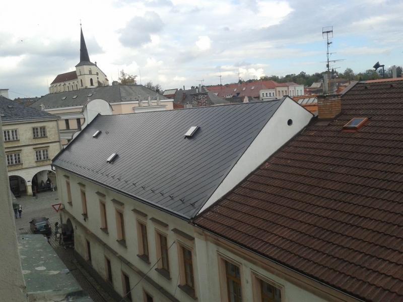 Rekonstrukce střešního pláště Eternit Dacora Litomyšl okres Svitavy